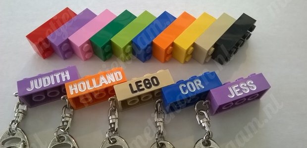 lego sleutelhanger met je naam | metjenaam.nl